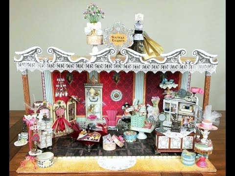 BOUTIQUE EXQUISITE Diorama - Miniature Scene with Several Sm