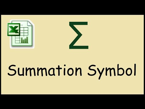 How to type summation symbol in Excel