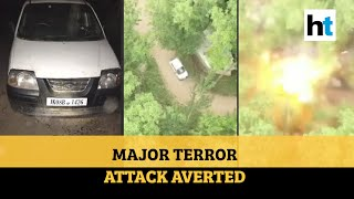 Watch: Car with 60 kg explosives intercepted in Pulwama, major attack averted