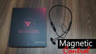 Wings Switch (WOW) Magnetic Control Bluetooth Wireless Earphones for Rs. 1,499