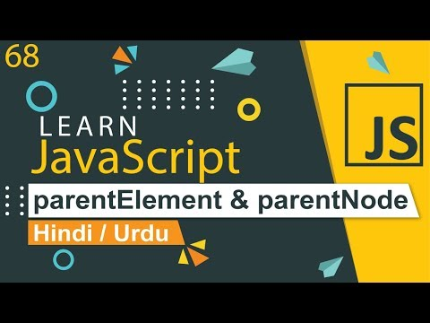 JavaScript parentElement & parentNode Method Tutorial in Hindi / Urdu thumbnail