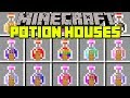 Minecraft POTION HOUSES MOD! | PLACE ANY POTION TO CREATE HOUSES! | Modded Mini-Game