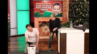 "Ellen gave Ryan Reynolds a few odd challenges to tackle in a game of ""Ryan Reynolds' Race to Raise Real Fudging Money,"" all to win funds for the ""Fudge"" Cancer organization. Plus, the ""Once Upon a Deadpool"" star talked about his friendly rivalry with Wolverine himself, Hugh Jackman.   For more Shutterfly moments, go to: https://www.ellentube.com/campaigns/shutterfly.html  #RyanReynolds #TheEllenShow #OnceUponADeadpool"