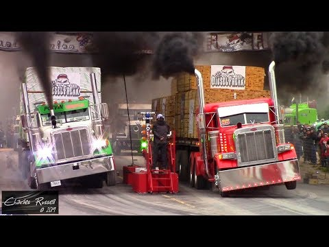 Great Lakes Big Rig Challenge 2019 Loaded Drag Racing Compilation