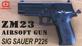 Игрушечный пневматический пистолет CYMA ZM 23 (SIG Sauer P226) - обзор и тестовая стрельба
