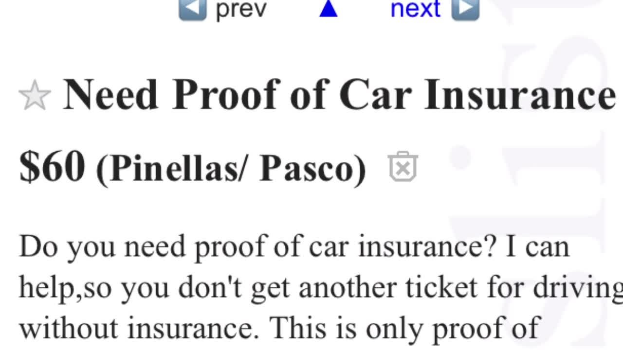 Digital Short Man Sells Fake Insurance Cards