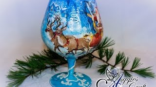 Decoupage Tutorial - Christmas Tea Light Holder
