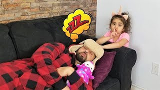 Don't Wake Daddy In real Life Challenge with Sally!!
