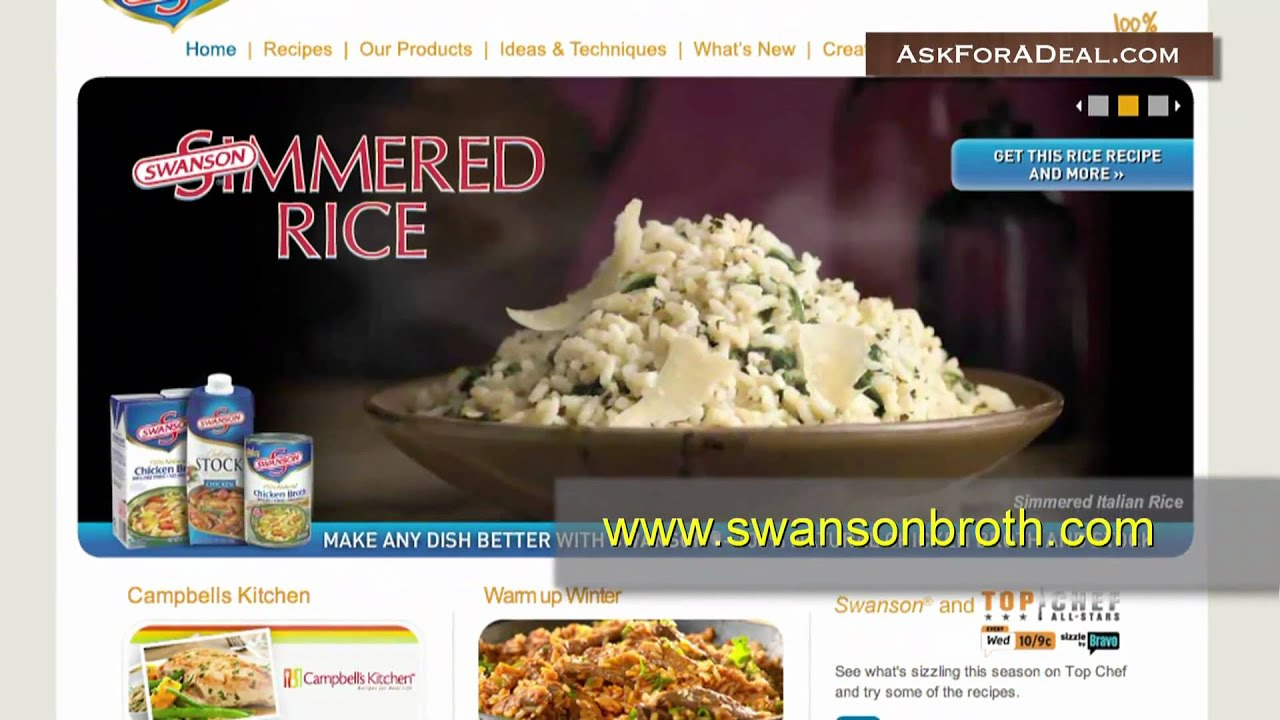 Swanson Broth Coupons - YouTube