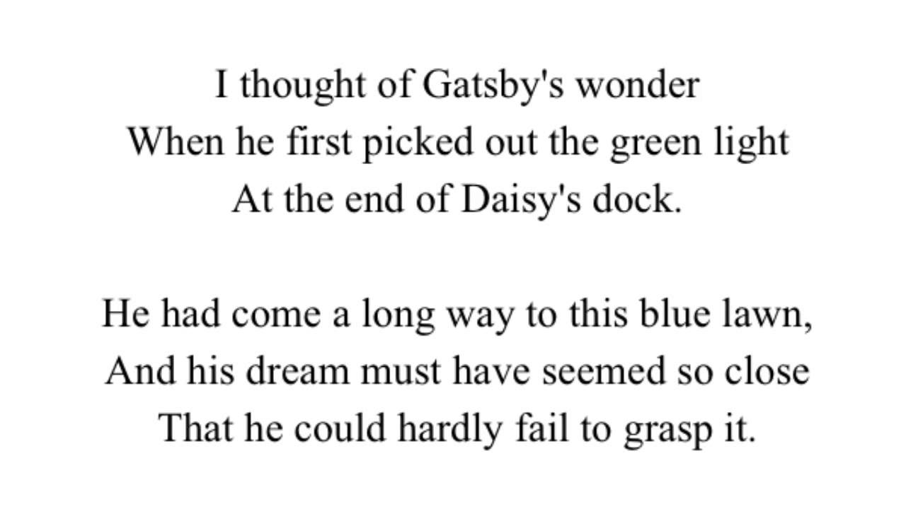 an analysis of dreams in the great gatsby by f scott fitzgerald In the middle of the roaring 1920's, author f scott fitzgerald published the great gatsby,  land of the consumer: fitzgerald's critique of the american dream.