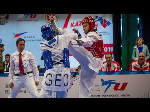 Merab Shukakidze (GEO) Vs Viacheslav Minin (RUS). European Taekwondo Championships Kazan-2018
