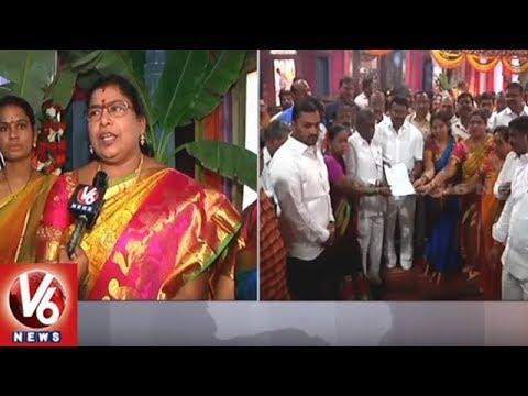Vasantha Panchami | Minister Talasani Srinivas Offers Prayers At Secunderabad Mahankali Temple | V6