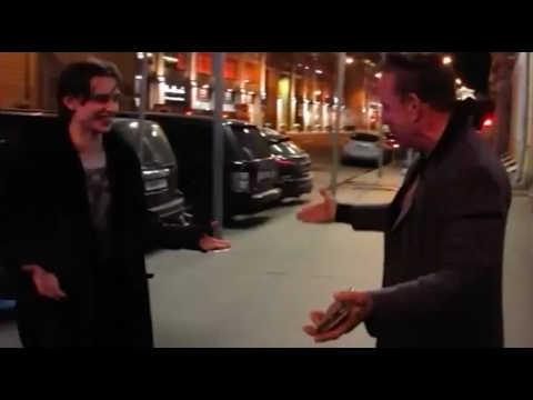 "Sergei Polunin ""StreetJumping"" with Mickey Rourke. Ballet star being silly with his idol. An iMovie."