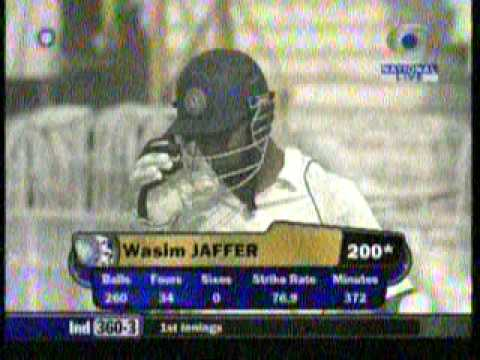 India vs Pak 2nd Test - Excellent  200 from Wasim Jaffer