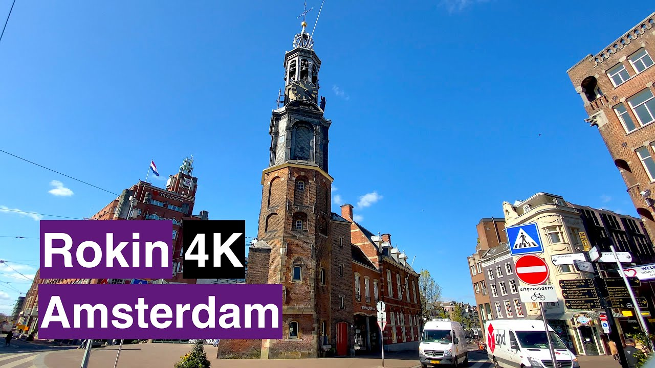 [4K] Amsterdam Travel Tour, Walking on Rokin 2021| The Netherlands??| City Ambiance | ASMR | #Walk