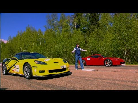 Ferrari 458 Italia vs Chevrolet Corvette ZR1, Nissan GT-R and Audi RS6