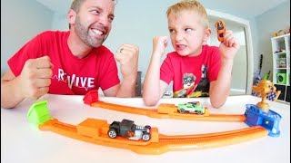 Father VERSUS Son Car Race! / HOTWHEEL GAME!
