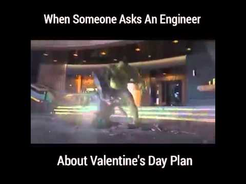When someone asks an engineer about valentine's day plan