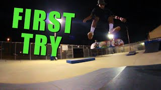 First Try Friday - Cab Heelflip Matthew Hobson