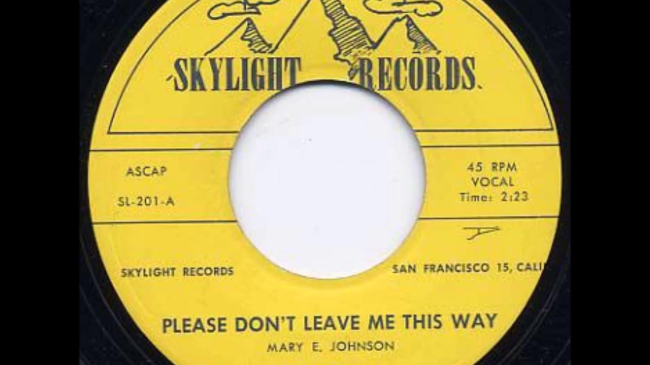 LEO VALENTINE & GROUP (LYRICS) - PLEASE DON'T LEAVE ME ...