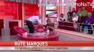 Rute Marques cai em direto no CMTV