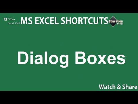 15. Dialog Boxes - Microsoft Excel Shortcuts - online degree schools ✔