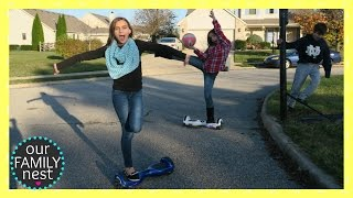 PLAYING BASKETBALL ON HOVERBOARDS