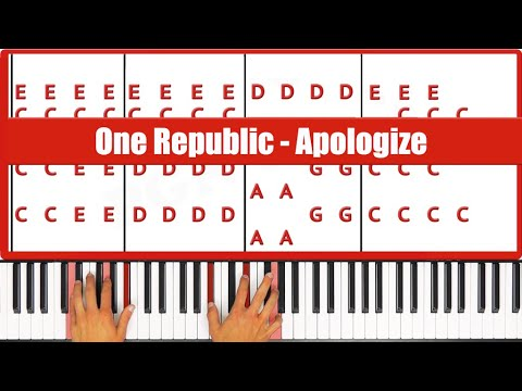 Apologize One Republic Piano Tutorial - ORIGINAL