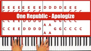♫ ORIGINAL - How To Play Apologize One Republic Piano Tutorial Lesson - PGN Piano