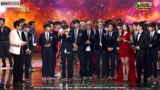 [13.12.27] EXO Song Of The Year Thank You Speech [Eng]