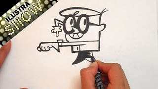 Dibujar a Dexter de El Laboratorio de Dexter Tutorial ILUSTRA SHOW