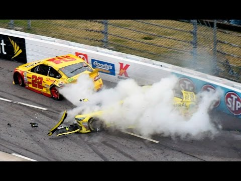 Matt Kenseth vs Joey Logano Payback Martinsville Fall 2015 [Full]