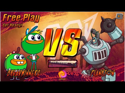 Nick Games: Super Brawl 3 Good Vs. Evil - Breadwinners Vs. Plankton
