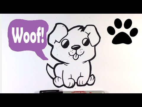 How to Draw a Cute Dog - Easy Pictures to Draw