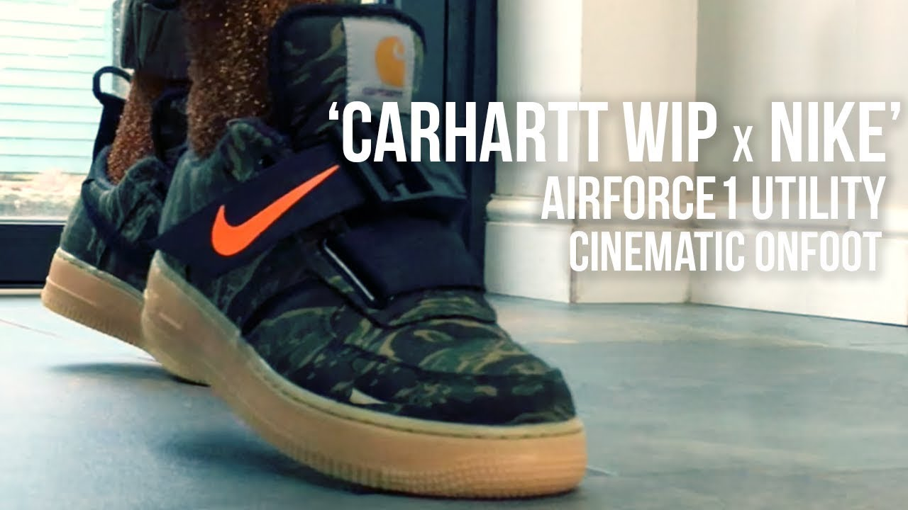 brand new e674d 65b05 Carhartt WIP x Nike AF1 Utility Cinematic Onfoot Review - YouTube