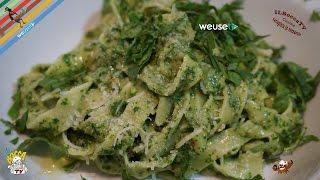 389 - Tagliatelle al pesto di rucola selvatica...altro che cura omeopatica! (pasta vegan genuina