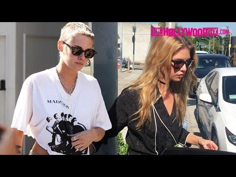 Kristen Stewart & Girlfriend Stella Maxwell Have Lunch At Gracias Madre In West Hollywood 6.28.17