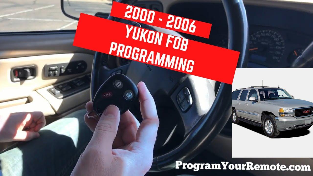 How To Program Gmc Yukon Remote Key Fob 2000 2006 Youtube