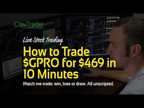 Live Day Trading - How to Trade $GPRO for $469 in 10 Minutes