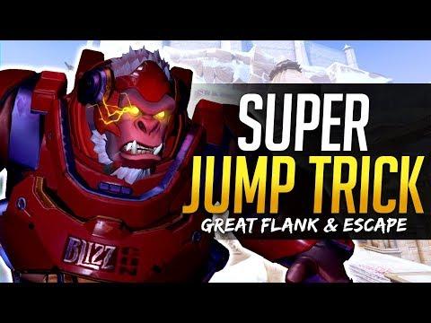 Overwatch WINSTON SUPER JUMP TRICK!