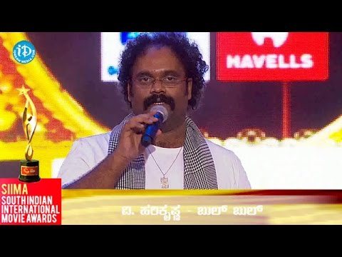 SIIMA 2014 || Best Music Director Kannada || Hari Krishna
