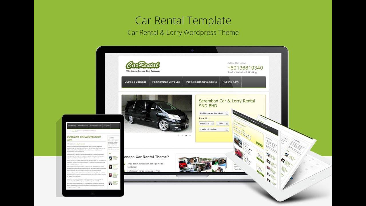 Free Car Rental Theme for WordPress