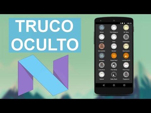 Truco oculto de Android 7.0 Nougat - Easter egg