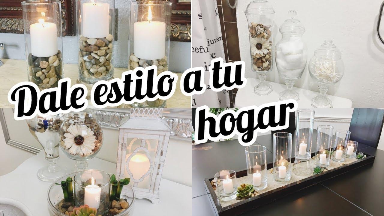 decoraciones para el hogar diys candelabros y bandeja