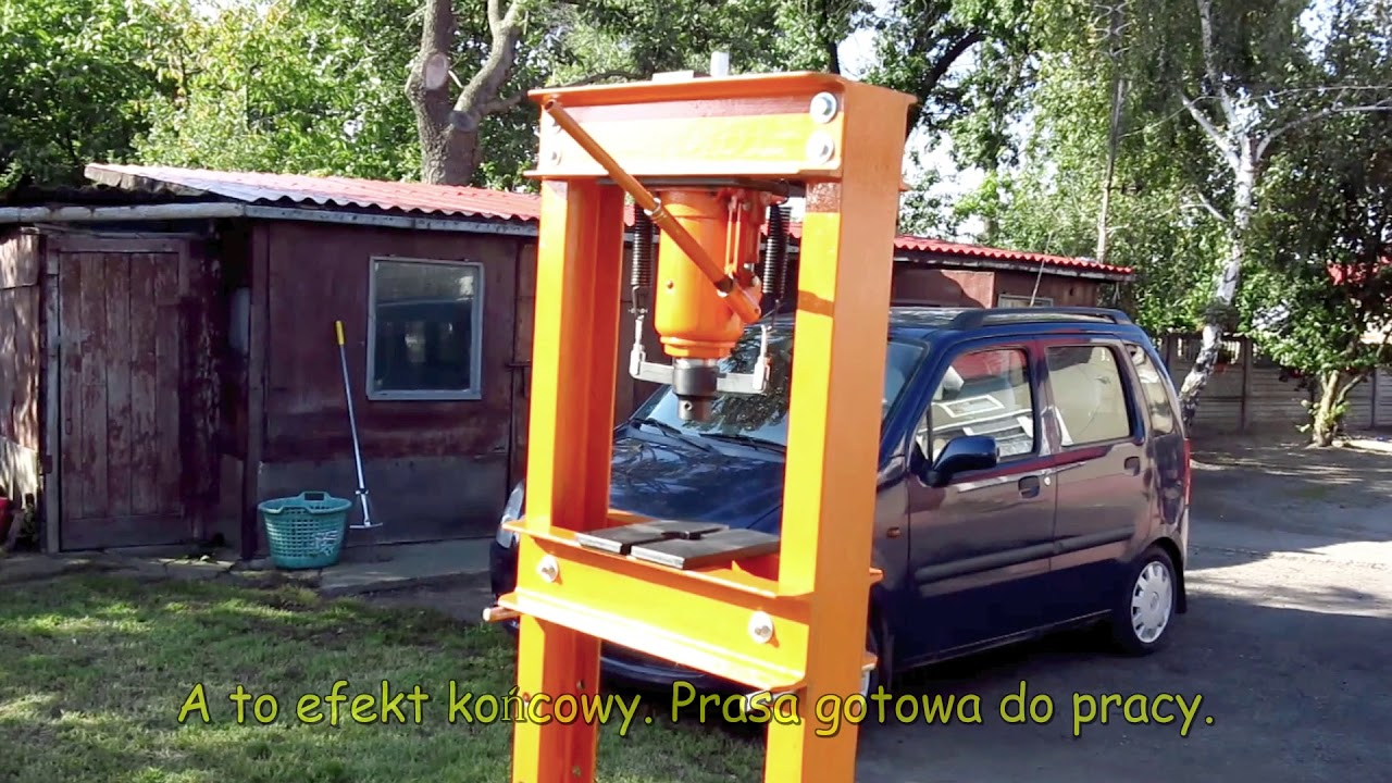Ogromnie Prasa hydrauliczna 32T - Hydraulic Press DIY - YouTube XZ47
