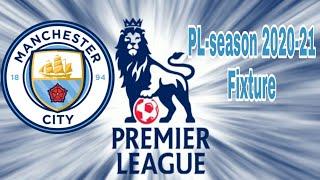 Man.city Fixtures PL-2020-21 season ⚽⚽⚽