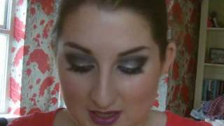 Glitter Smokey Eyes and Purple Lips Tutorial Thumbnail