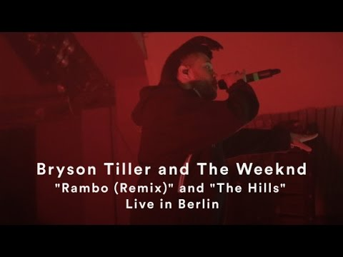 """The Weeknd and Bryson Tiller   """"Rambo (Remix)"""" and """"The Hills""""   Live in Berlin"""