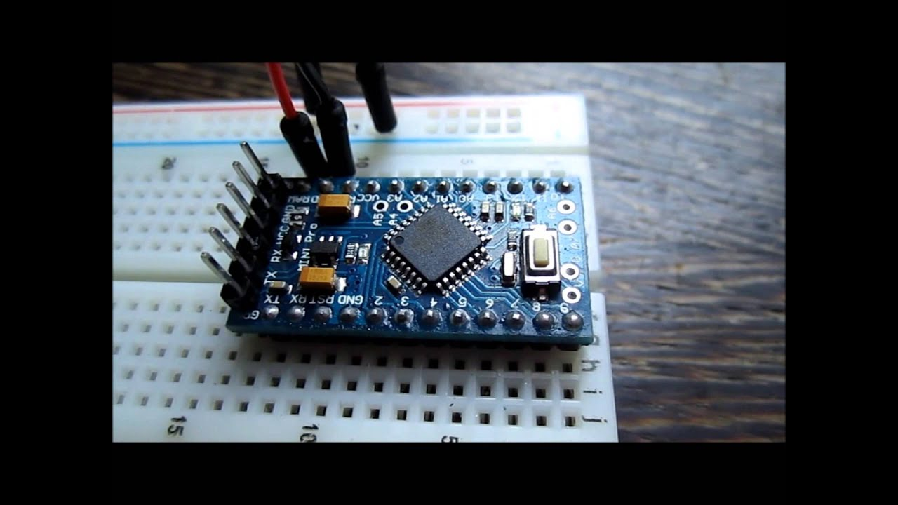 Driving rgb ledstrip with an arduino pro mini and a
