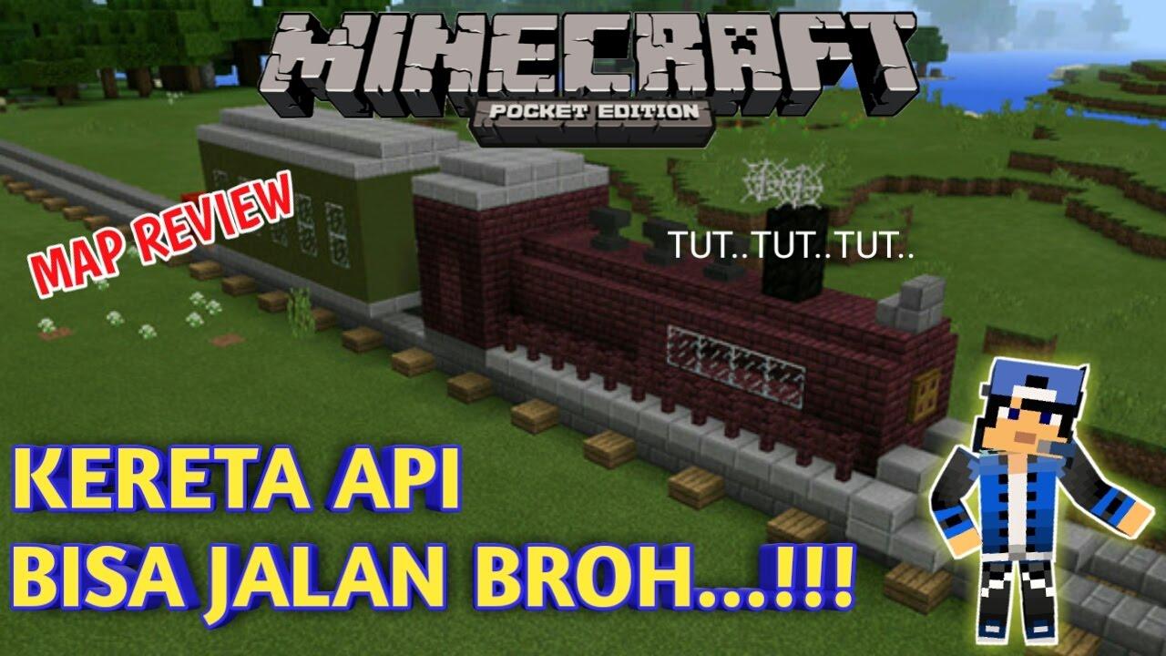 Gambar Kereta Api Minecraft Kereta Api Map Bisa Jalan Bro Minecraft Pe Pocket Edition 23 Youtube